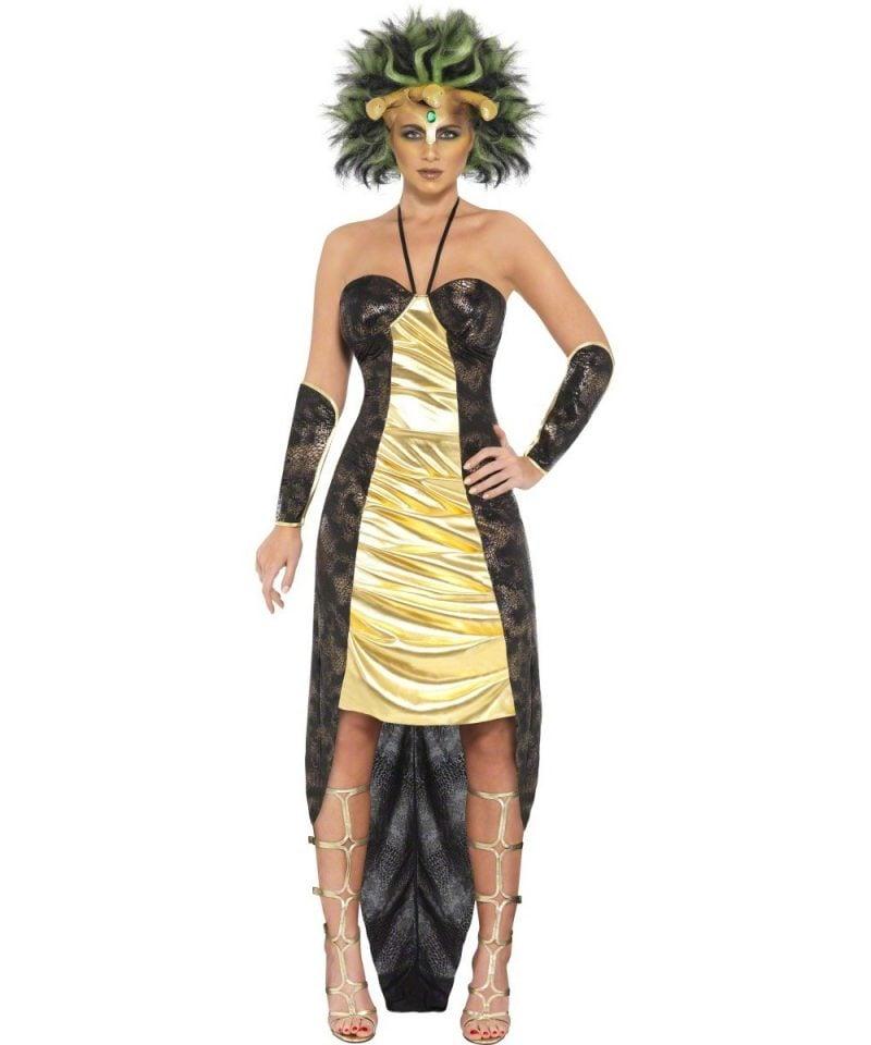 medusa kostüm gold