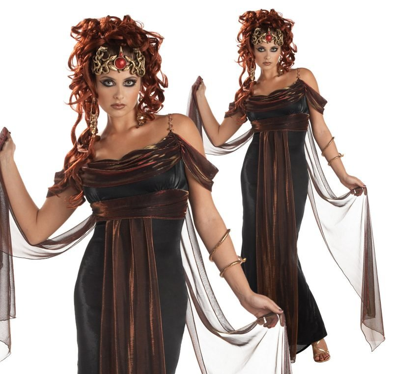 medusa kostüm schwarz
