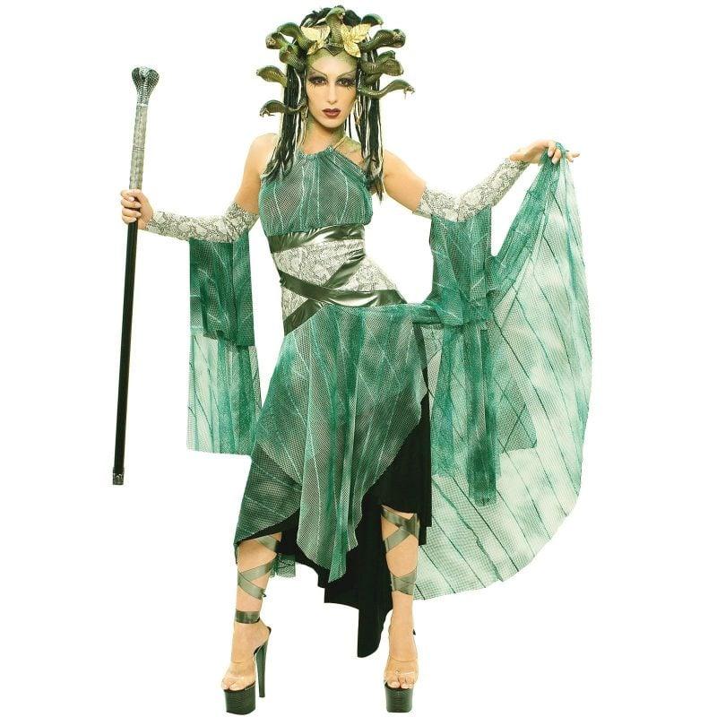 medusa kostüm grün