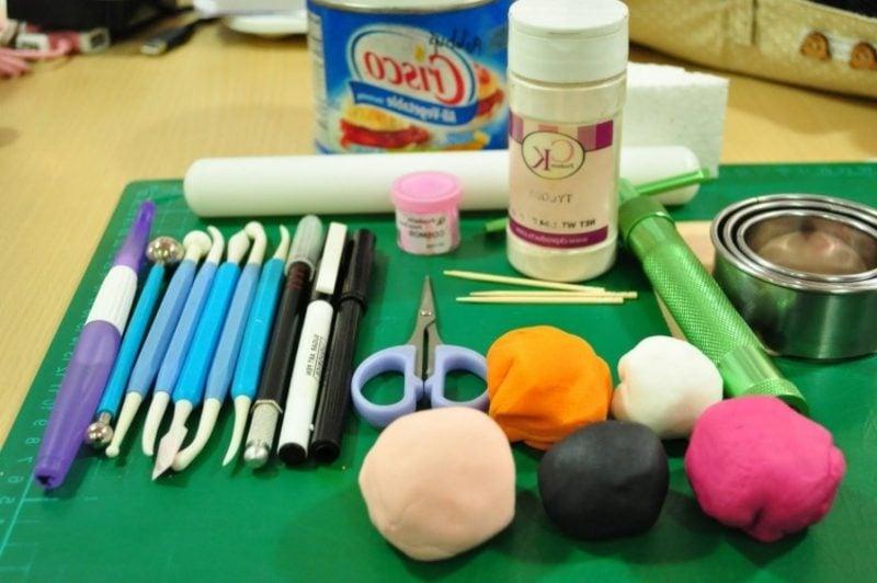 Basteln mit Fimo Materialien