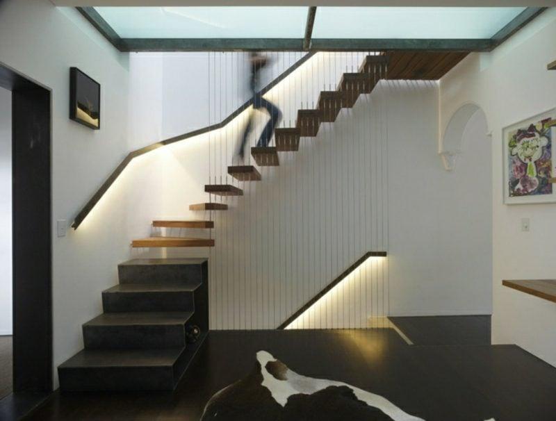 freihängende Treppe kreative Designideen