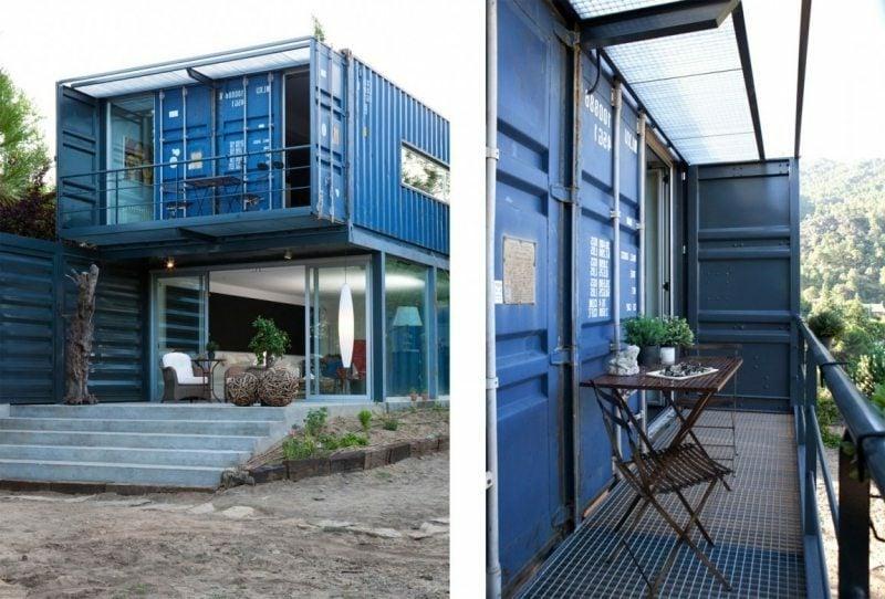 Container Haus im Blau