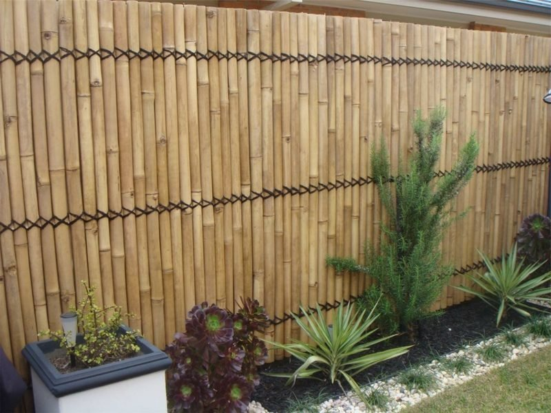 Bambuszaun modernes Design