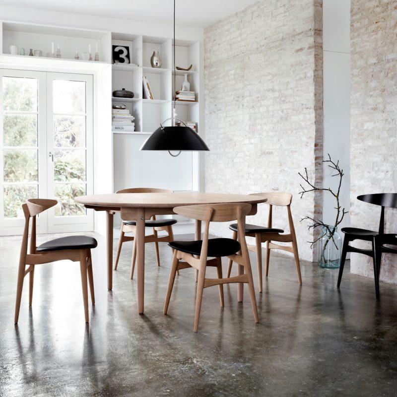 Möbeldesigner Wegner Esstisch und Stühle