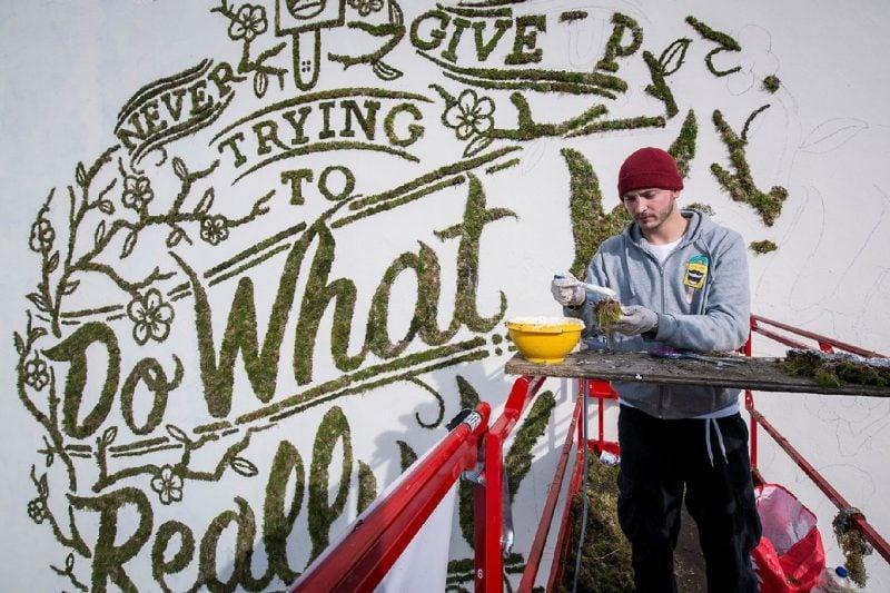 Moos Graffiti Kunst