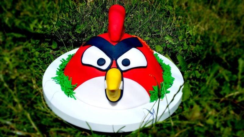 Motivtorten selber machen Angry Birds