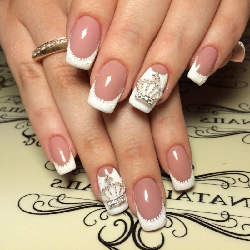 Nageldesign French 3D