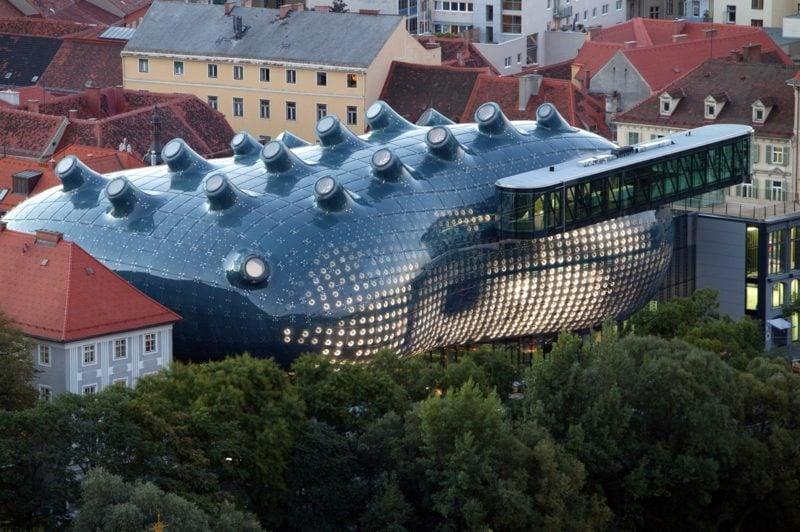 das Kunsthaus in Graz als Meisterwerk der organischen Architektur