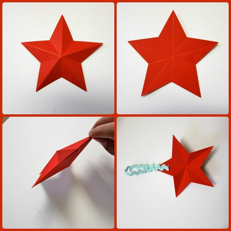 origami sterne rot