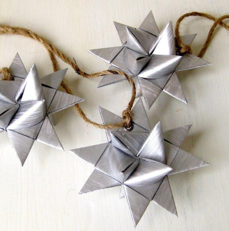 origami sterne silber