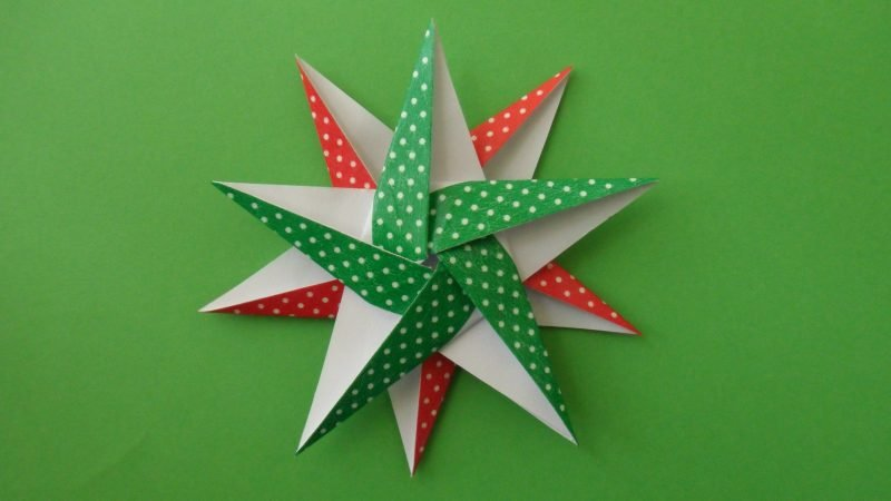 origami sterne grün