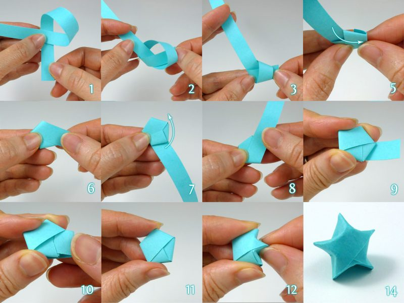 origami sterne blau