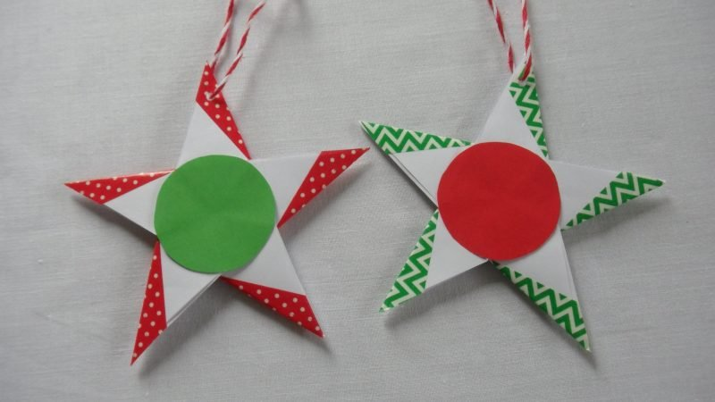 origami sterne fröhlich