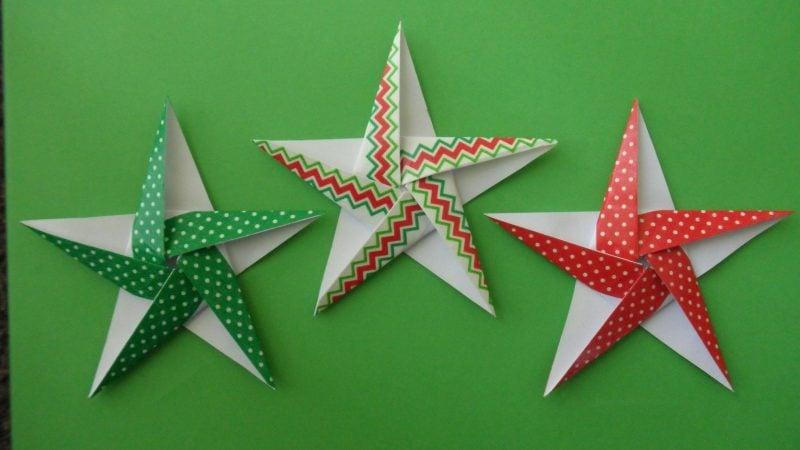 origami sterne bunt