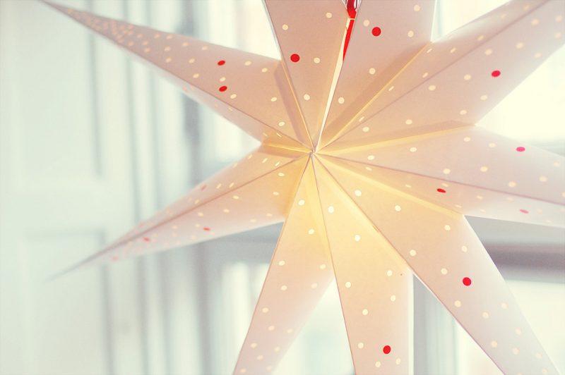 origami sterne leuchtend