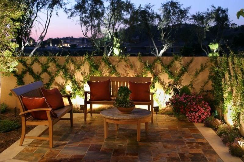 Terrasse Gartenbeleuchtung