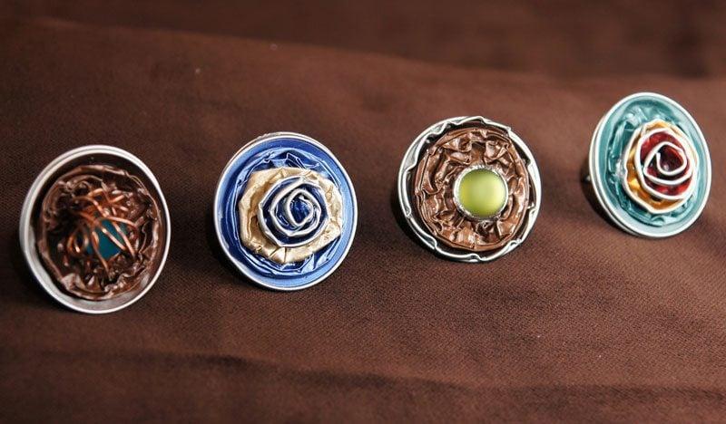 stilvolle Ringe aus Nespresso Kapseln