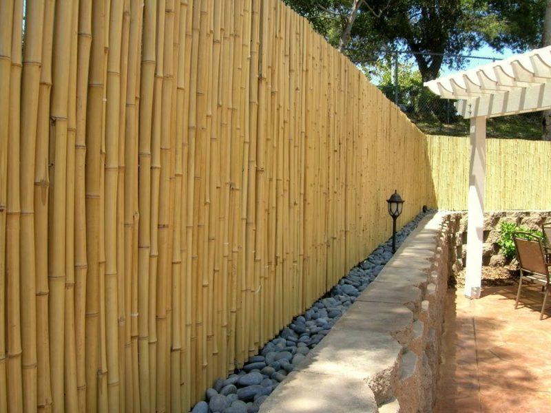 Gartenzaun aus Bambus kreative Ideen