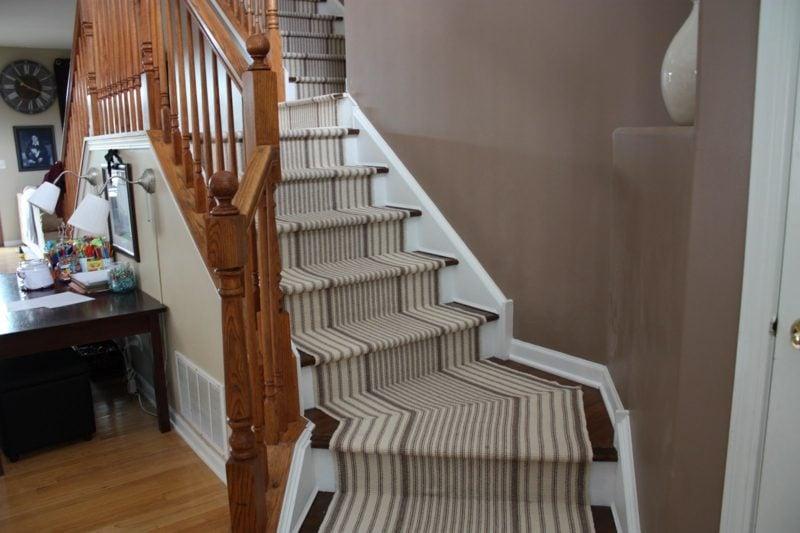 kreative Designideen Treppenteppich