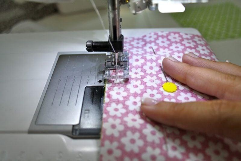 Patchworkdecke nähen DIY Projekt