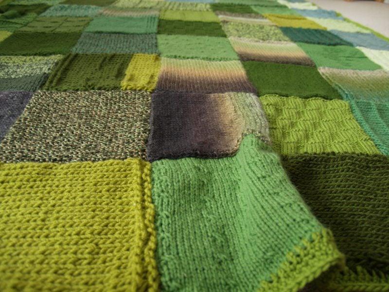Patchworkdecke nähen aus Wolle