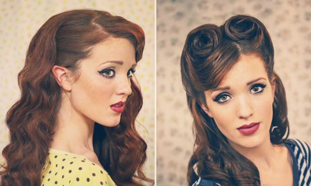 50 s style hair tolle rockabilly tolle 19 pin up frisuren zum 1292 | pin up frisuren bandana