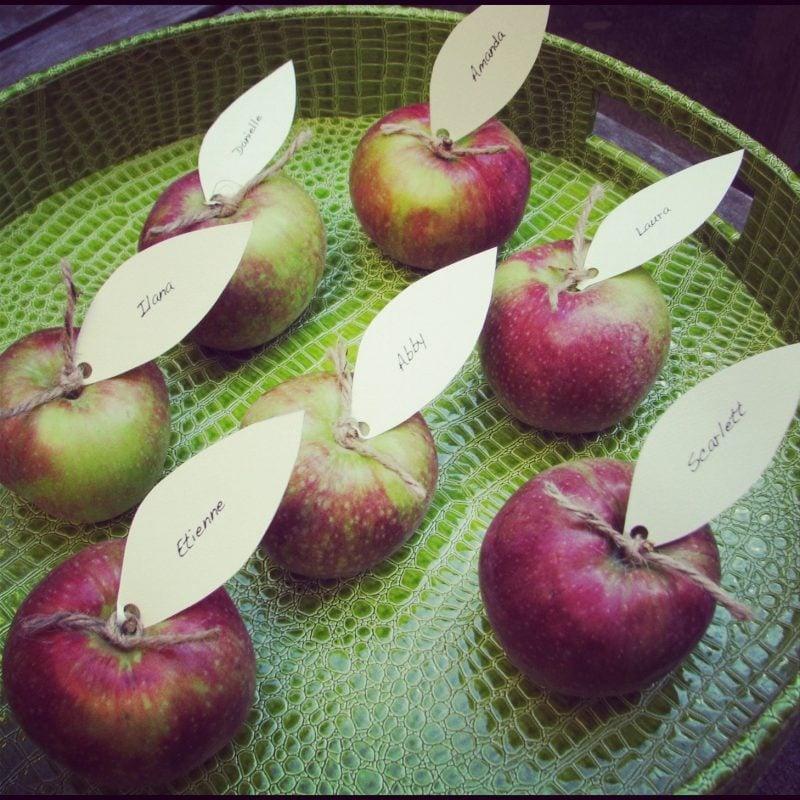 Platzkarten Apfel