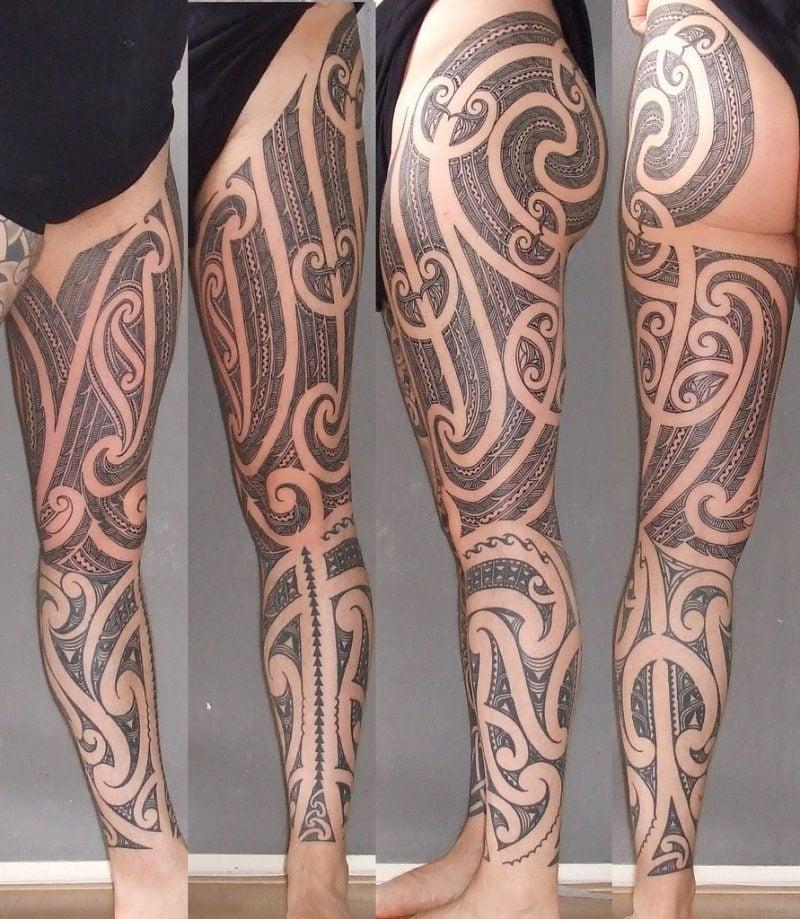 polynesische tattoos groß