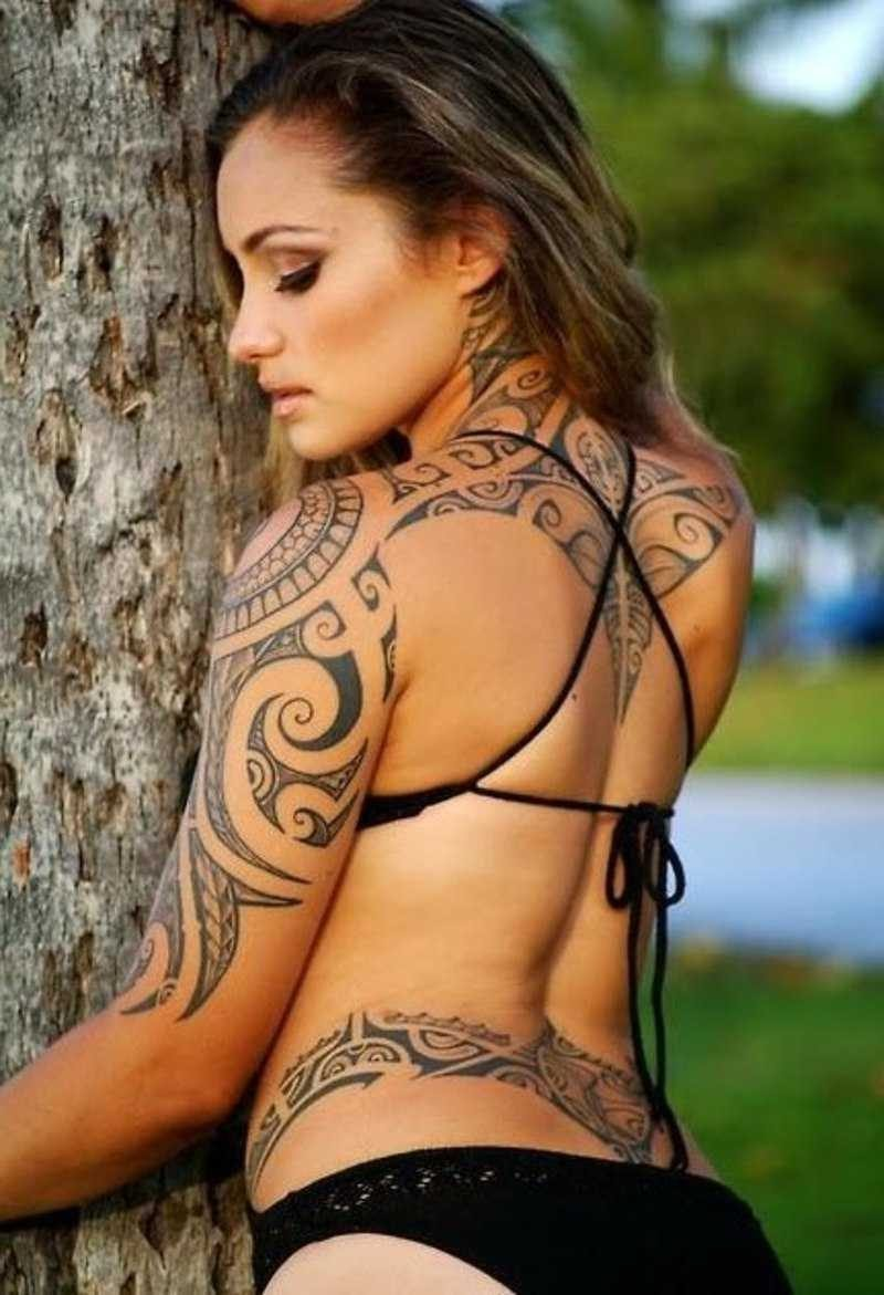 polynesische tattoos gegenwärtig
