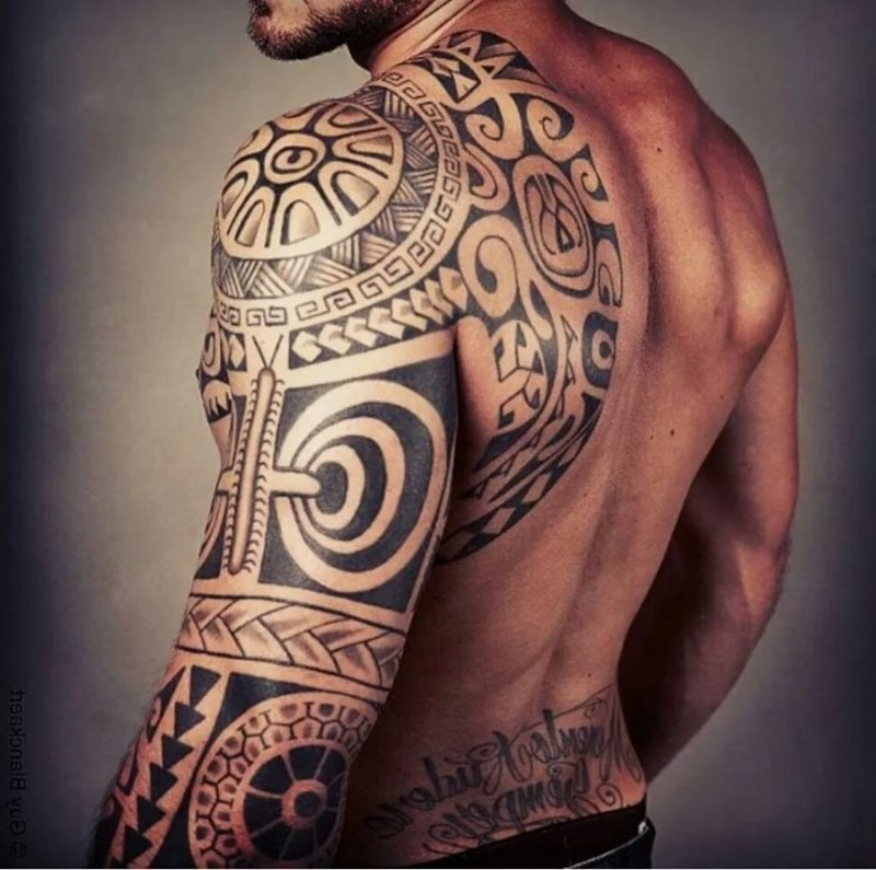 polynesische tattoos heilige kunst mit zahlreichen motiven deko feiern zenideen. Black Bedroom Furniture Sets. Home Design Ideas