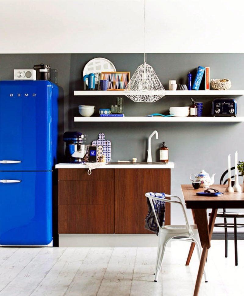 retro kühlschrank bosch blau