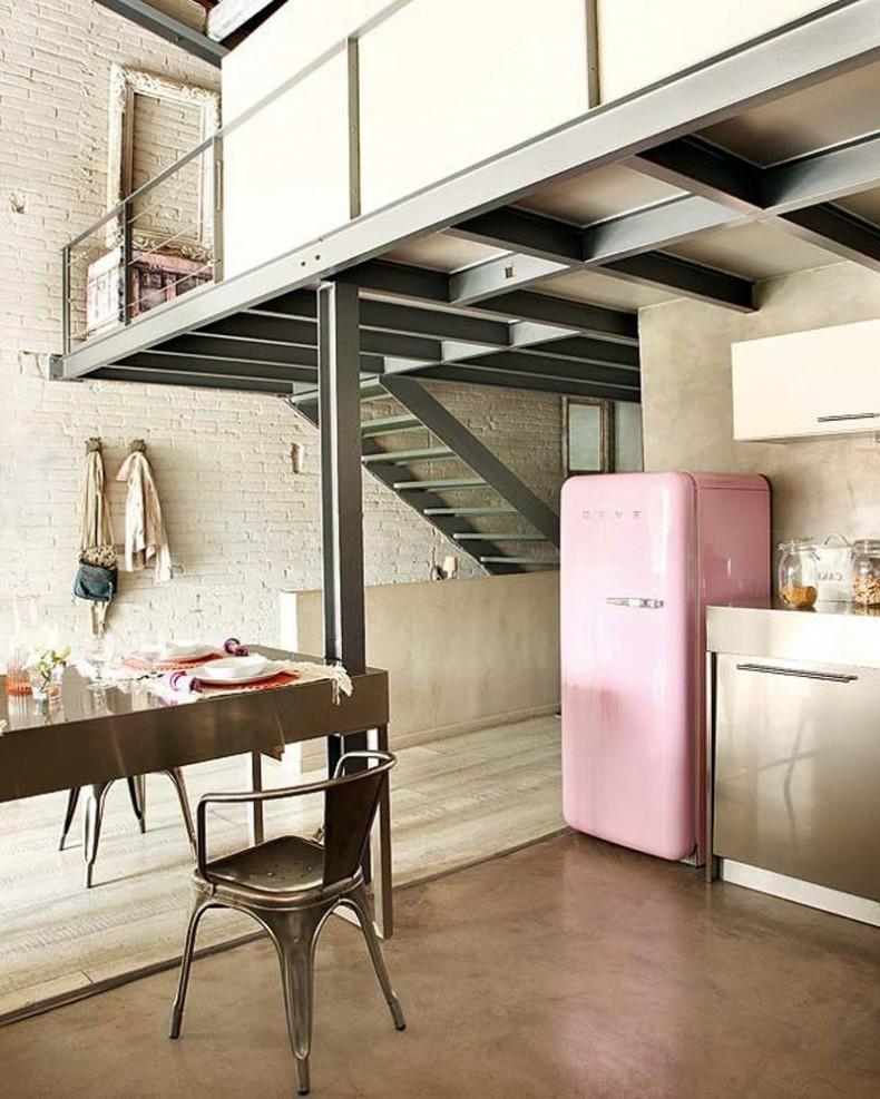 retro kühlschrank bosch rosa