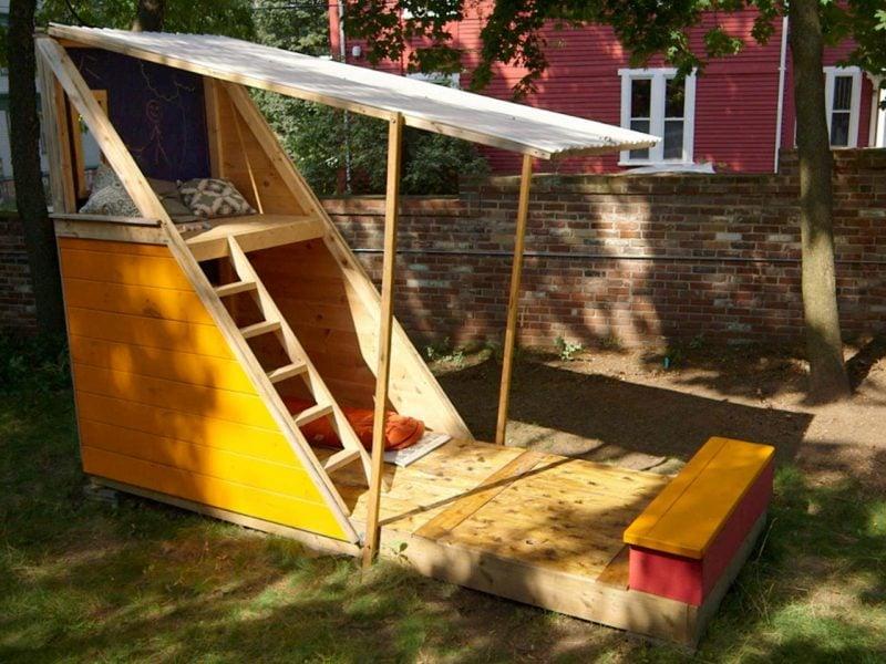 Sandkasten bauen Spielplatz