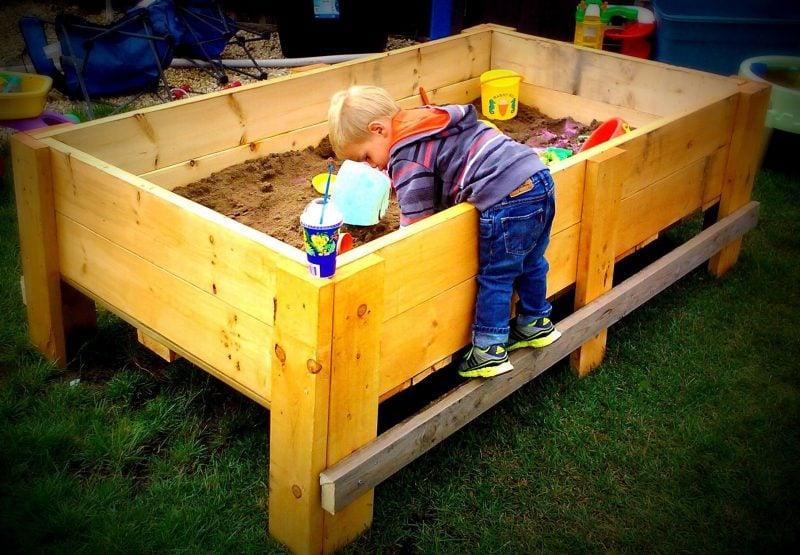 Sandkasten bauen DIY Idee