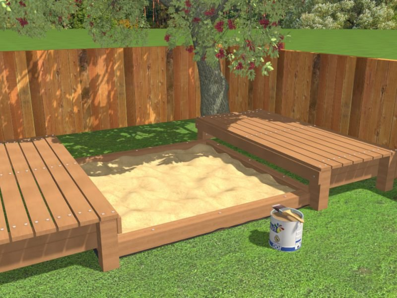 sandkasten bauen die leichteste anleitung 25 kreative. Black Bedroom Furniture Sets. Home Design Ideas