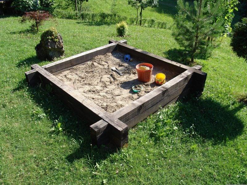 Sandkasten bauen DIY Projekt