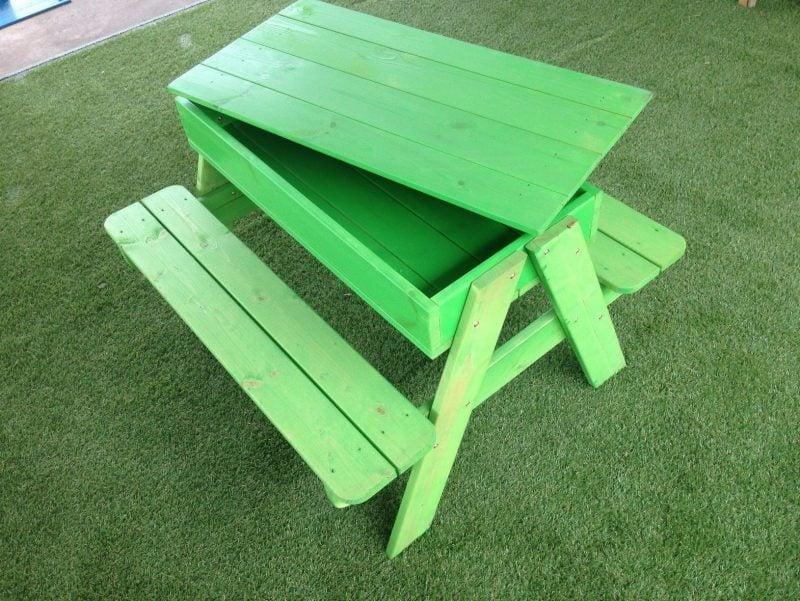 Sandkasten bauen Grün