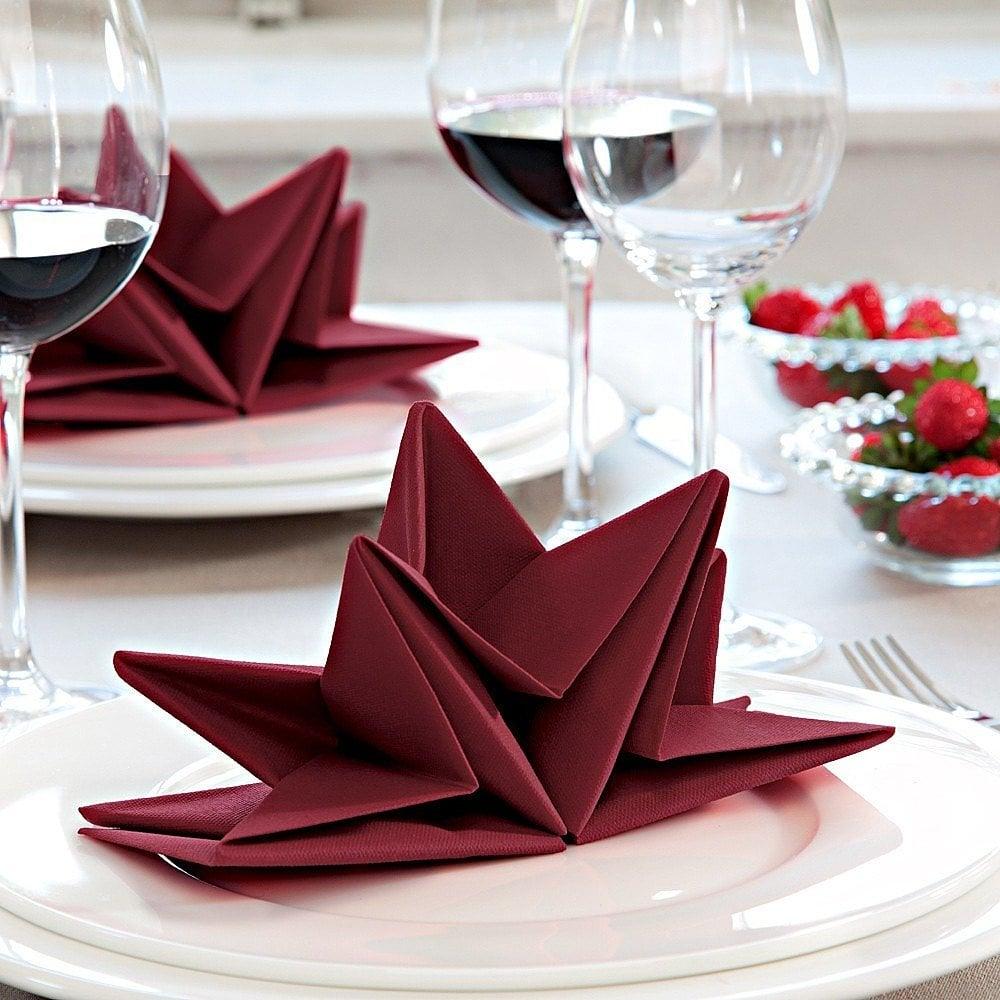 stern servietten falten diy anleitung deko feiern. Black Bedroom Furniture Sets. Home Design Ideas