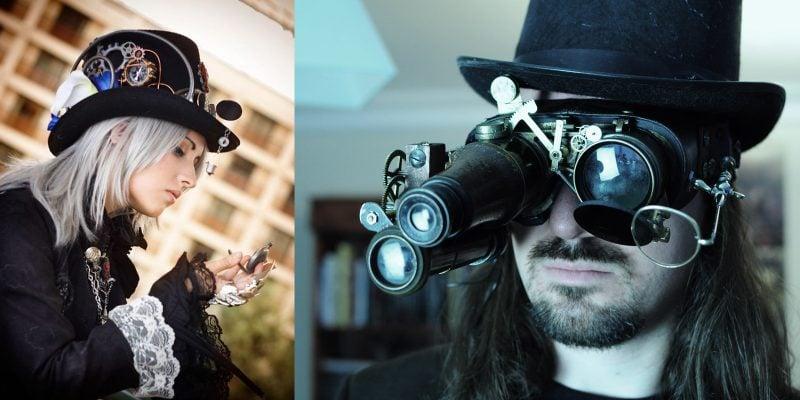 Steampunk Kleidung Brille