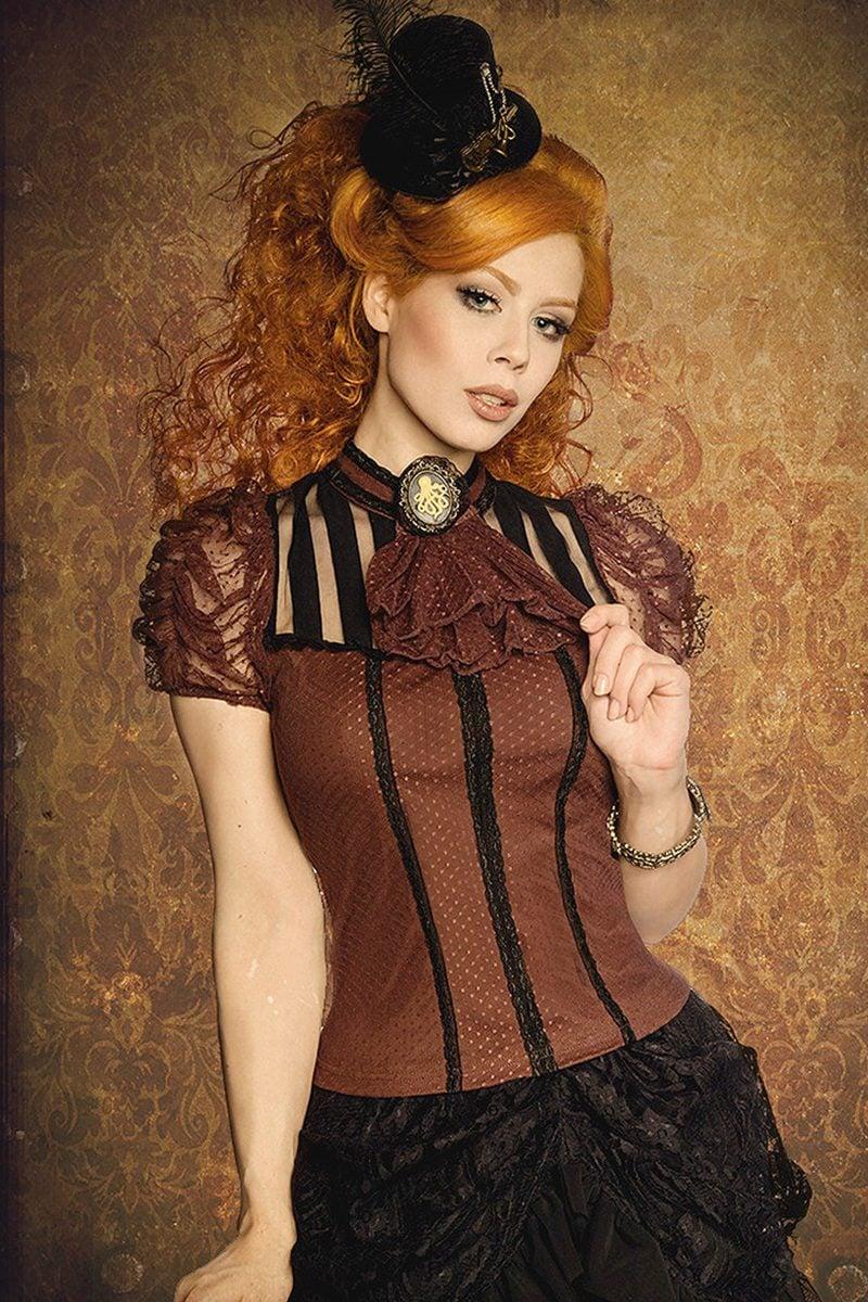 Steampunk Kleidung Frau mit Hut