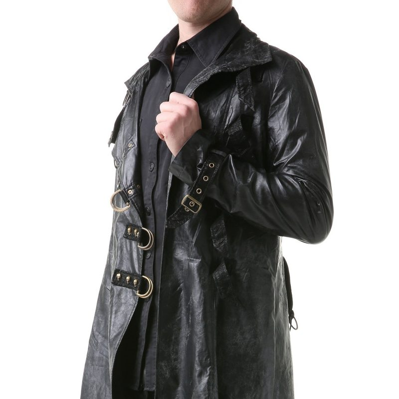 Steampunk Kleidung Leder Mantel