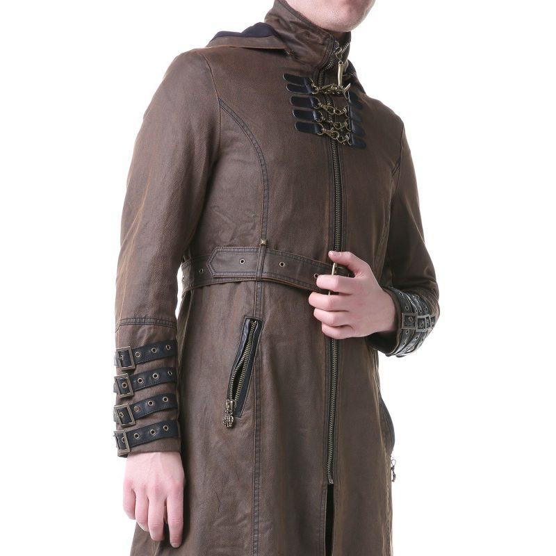 Steampunk Kleidung mit Mantel