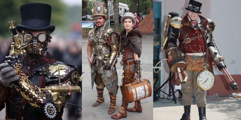Steampunk Kleidung mit Metall