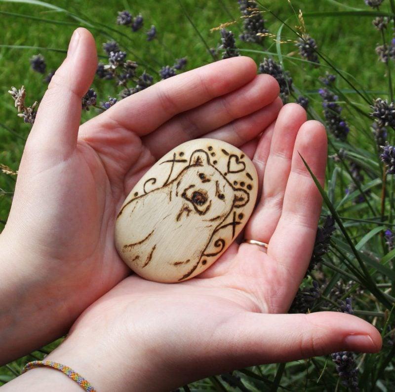 Symbol für Stärke Bär Amulett