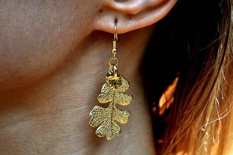 Symbol für Stärke Eichen Ohrringe