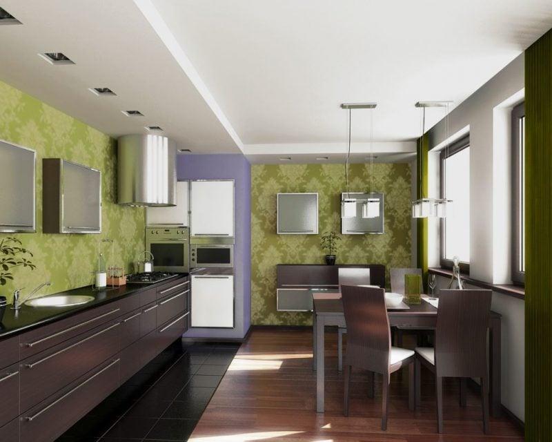 tapete für küche grün