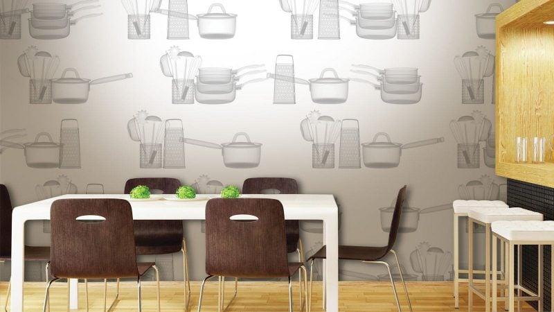 Tapeten für Küche - 7 frische Ideen - Esszimmer, Innendesign
