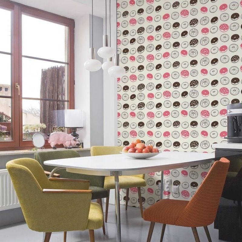 ideen tapeten k che. Black Bedroom Furniture Sets. Home Design Ideas
