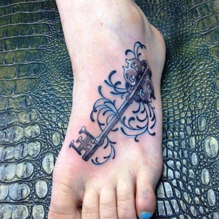 Tattoo Schlüssel Design
