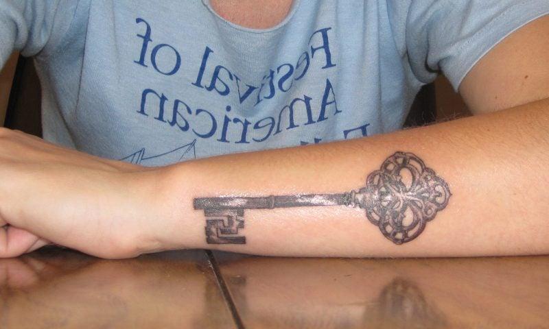 Tattoo Schlüssel Männer Hand